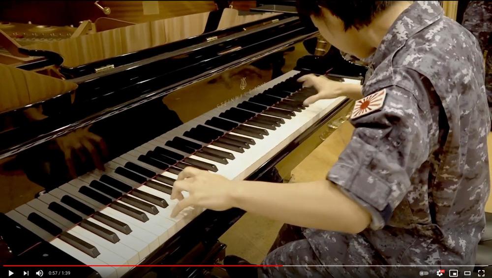 演奏はピアノからスタート(スクリーンショット)