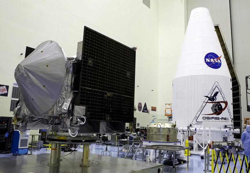 OSIRIS-RExとペイロードフェアリング(Image:NASA)
