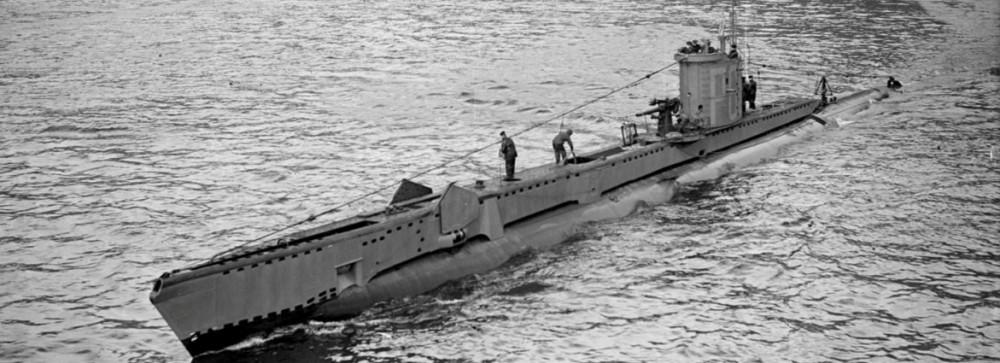 1943年に撮影された潜水艦ヴェンチャラー(Image:Crown Copyright)