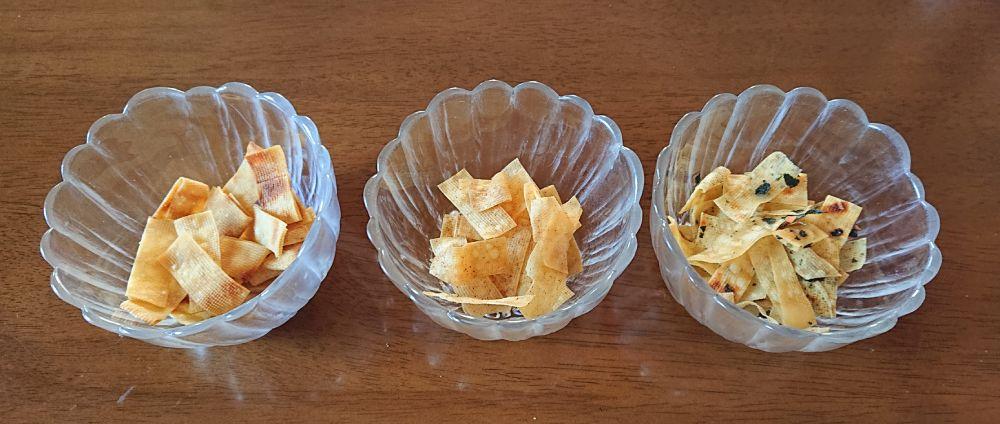 最後は小皿に盛り付けて比較。