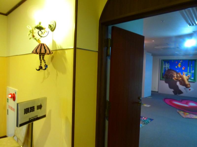 トリックアートの部屋入り口