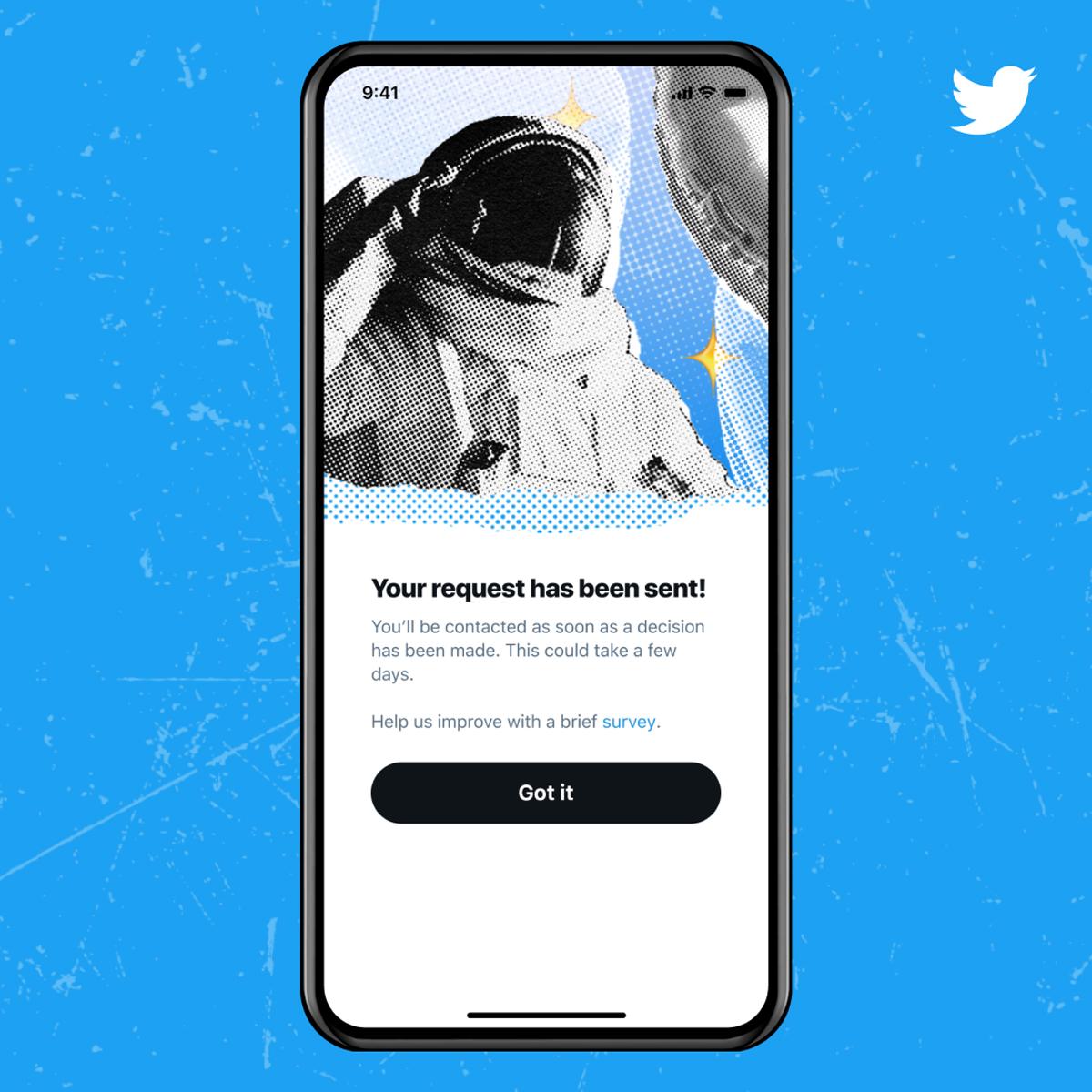 Twitter公式マークの申請プロセスが再開 アプリ内→「設定とプライバシー」から