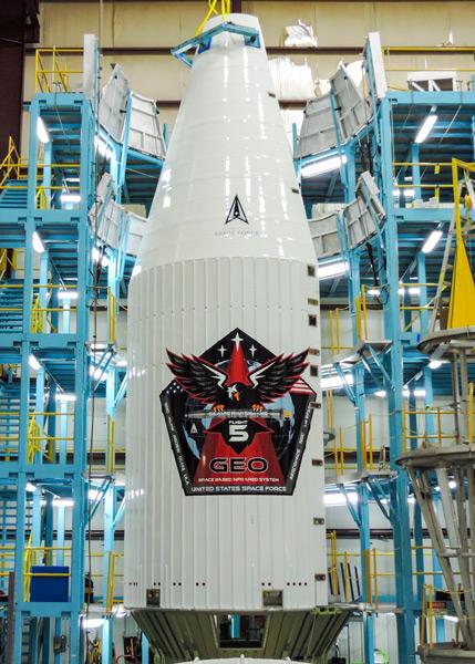 「SBIRS GEO-5」のペイロードフェアリング(Image:ULA)
