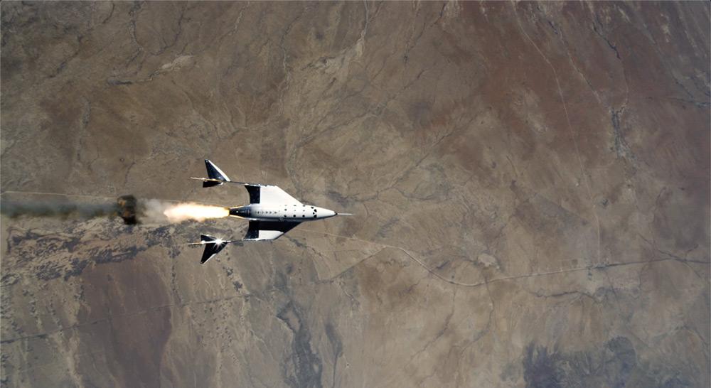 ニューメキシコ州上空で切り離されたVSSユニティ(Image:Virgin Galactic)