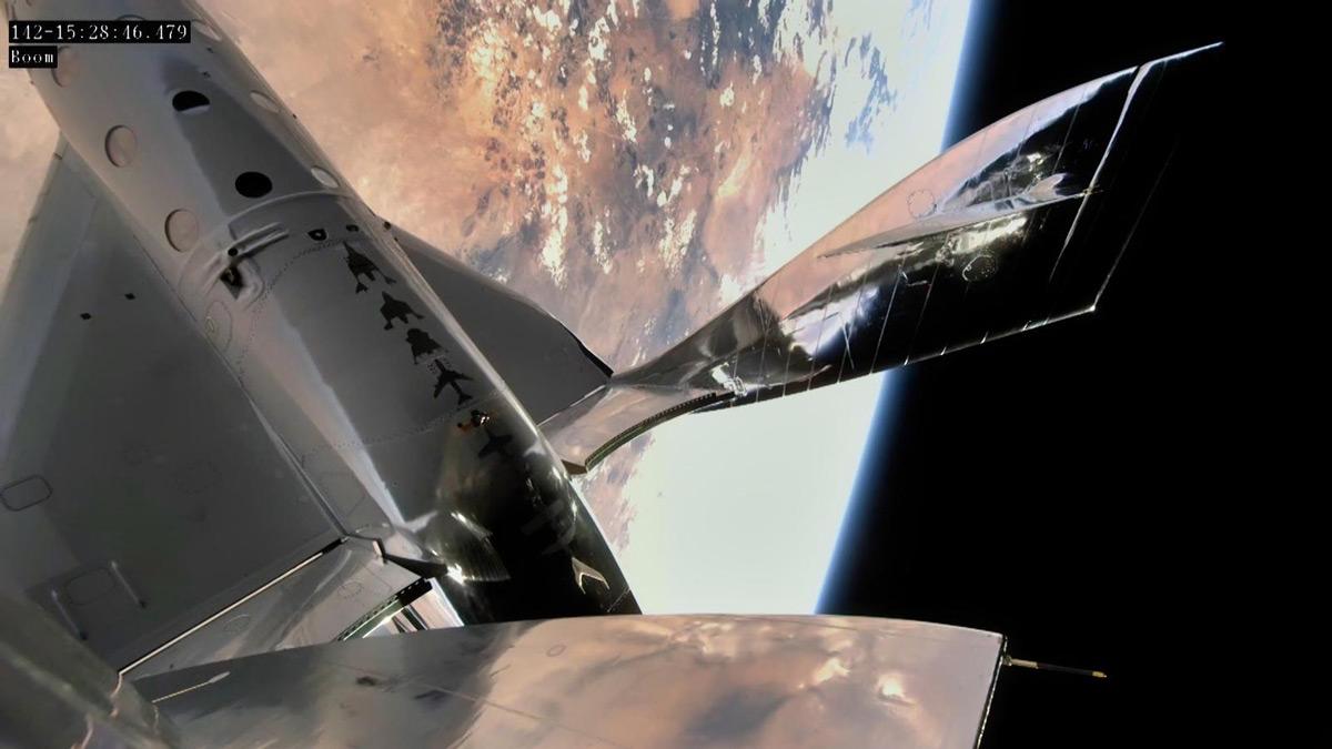 ニューメキシコ州上空で「宇宙空間」に到達したVSSユニティ(Image:Virgin Galactic)