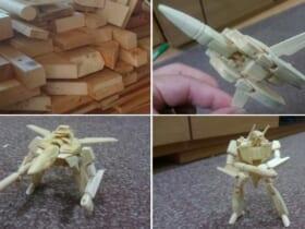 廃材でヤックデカルチャーな木工アートを製作するTwitterユーザーが話題。
