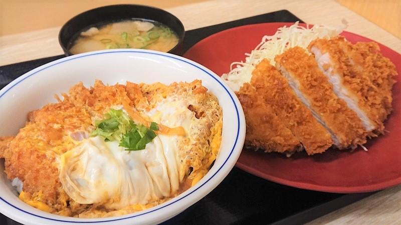 カツ丼側から見た「王道ロースカツ定食」