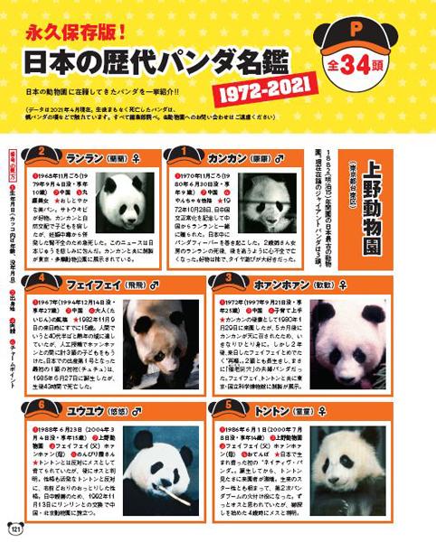 歴代日本のパンダ名鑑
