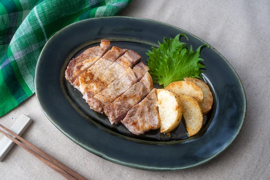 豚肉と長芋のバター醤油ソテー