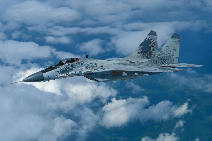 スロバキア空軍のMiG-29(Image:USAF)