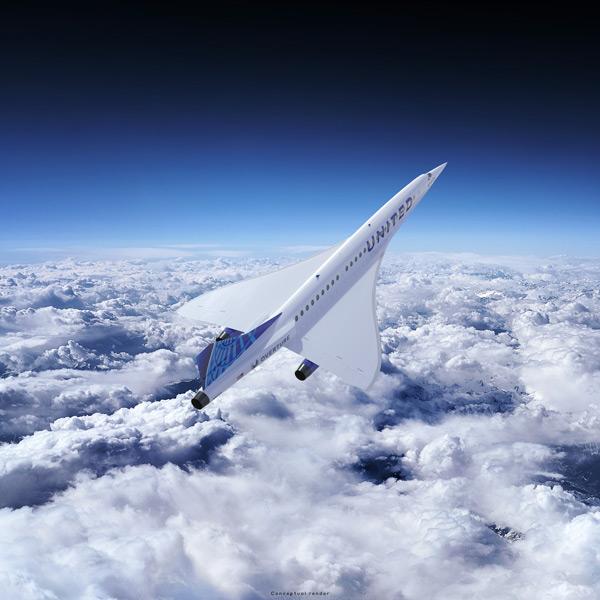 上昇するオーバーチュア(Image:Boom Supersonic)