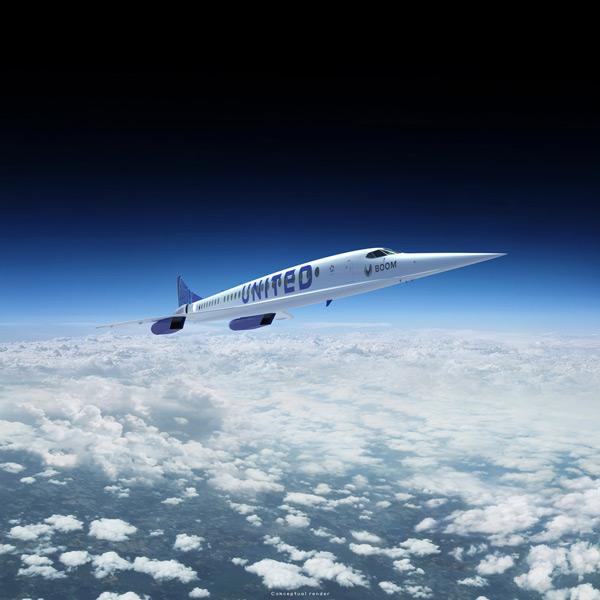 飛行するオーバーチュア(Image:Boom Supersonic)