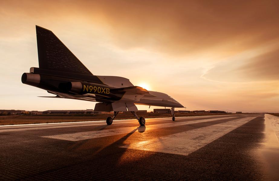 滑走路上のXB-1(Image:Boom Supersonic)
