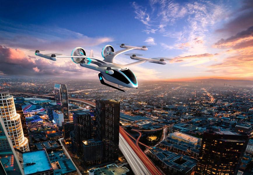 大都市を飛ぶEVEのeVTOL(Image:Eve Urban Air Mobility Solutions)