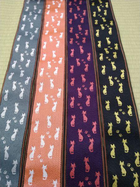 加藤畳店店主がこの日投稿したのは、猫柄模様の「畳縁」。