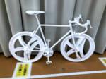 発泡スチロールで作られた実物大の自転車(木村鋳造所提供)