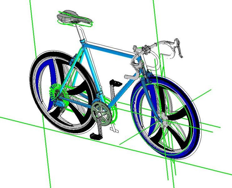 自転車の3Dモデル(木村鋳造所提供)
