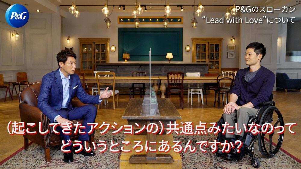 国枝選手に質問する松岡さん