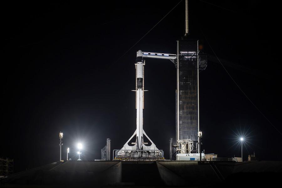 発射台のCRS-22(Image:SpaceX)