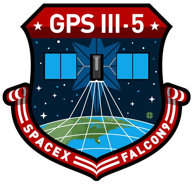 GPS III 5号機打ち上げミッションのエンブレム(Image:SpaceX)