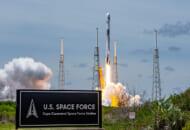 ケープカナベラル宇宙軍基地から打ち上げられるGPS IIIの5号機(Image:SpaceX)