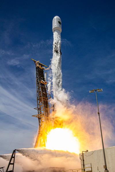 GPS III 5号機の打ち上げ(Image:SpaceX)