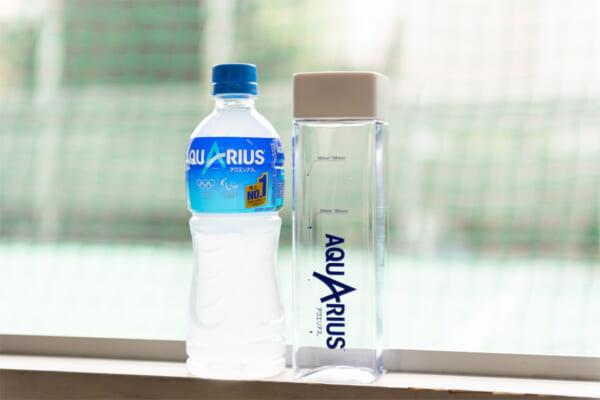 目盛り入り「アクエリアス熱中症対策ボトル」