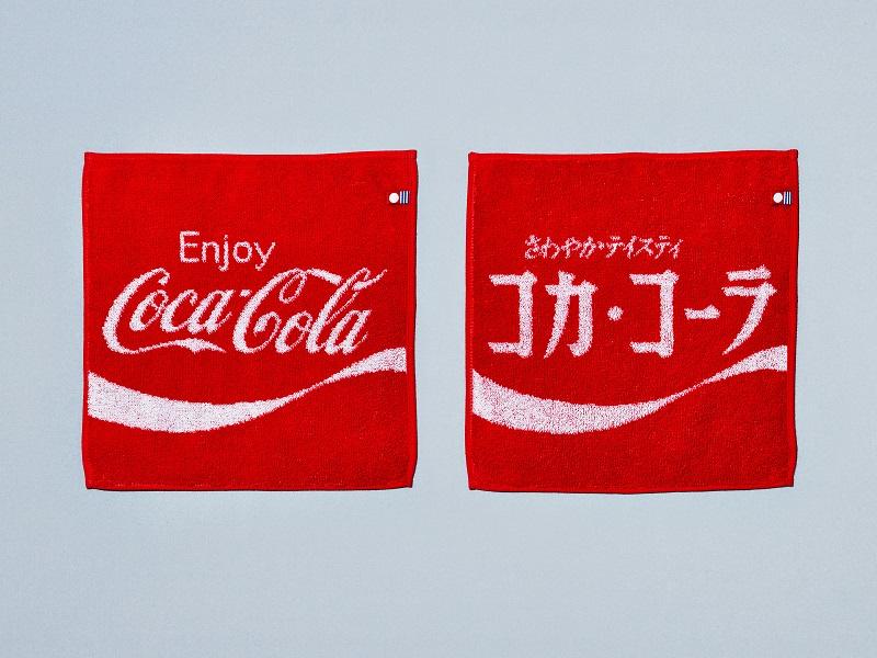 コカ・コーラ柄の今治タオルハンカチ