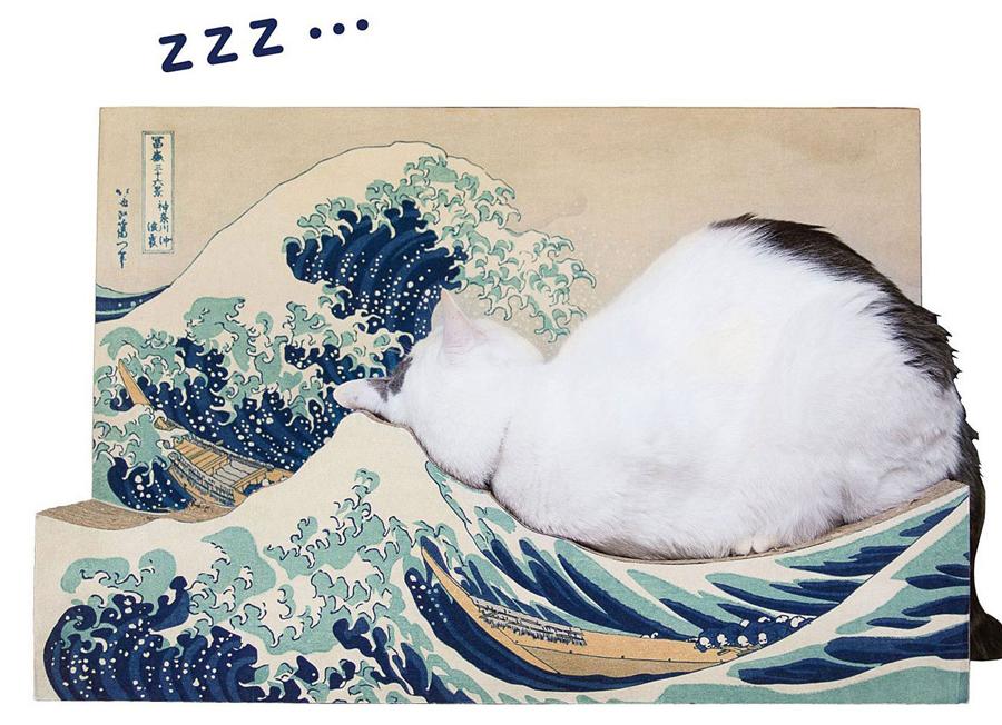 猫のあごにピタッとくるフォルム