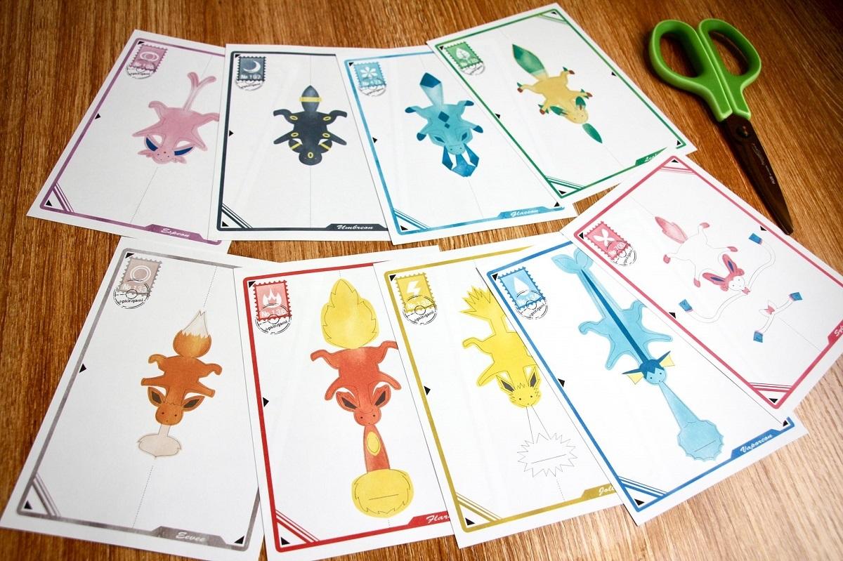 イーブイのポストカード全9種類