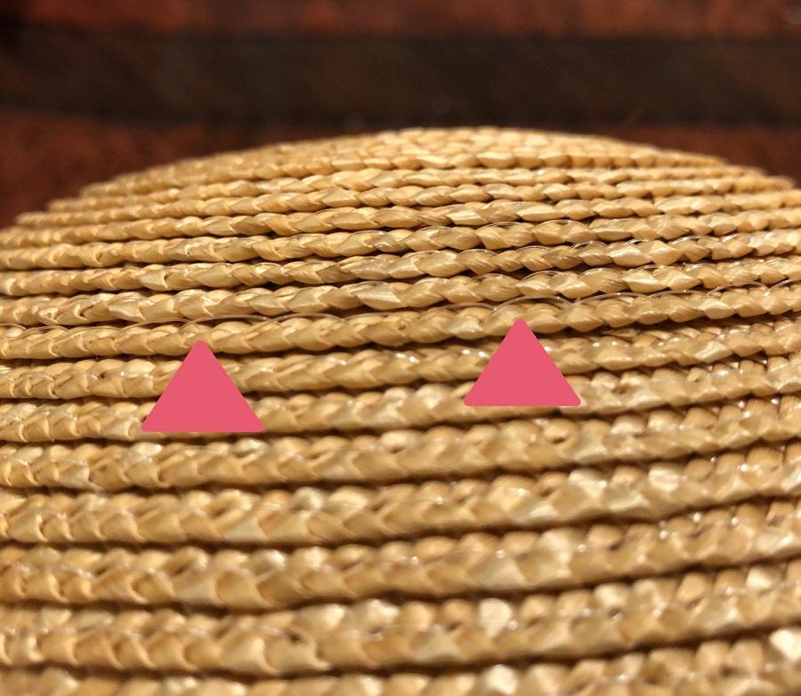 麦わら帽子の修繕に無事成功した時の様子