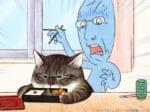猫好きな「おじいちゃん(実は女性)」とふてぶてしい元野良猫「つしま」の日常を描く