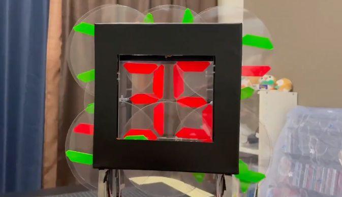BBコリーさんが投稿した動画にはアラビア数字で時間が刻まれます。