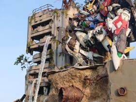 「廃墟に佇むウイングゼロ」のジオラマのファンアートがTwitterで反響。