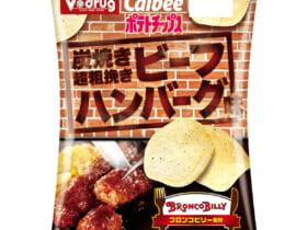 ポテトチップス 炭焼き超粗挽きビーフハンバーグ味