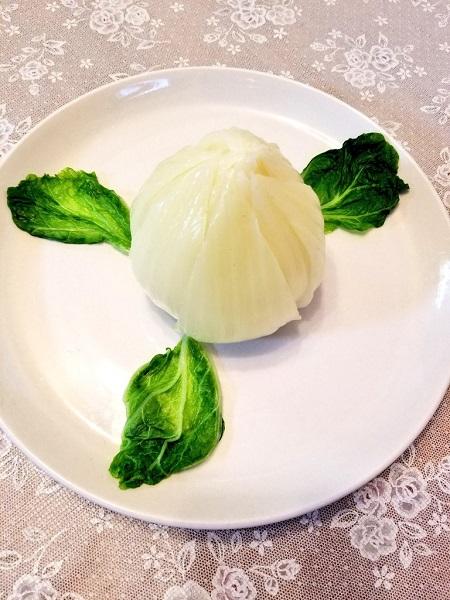 つぼみ状態の開水白菜
