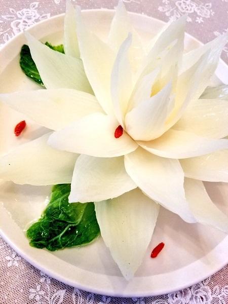 綺麗に花開く開水白菜