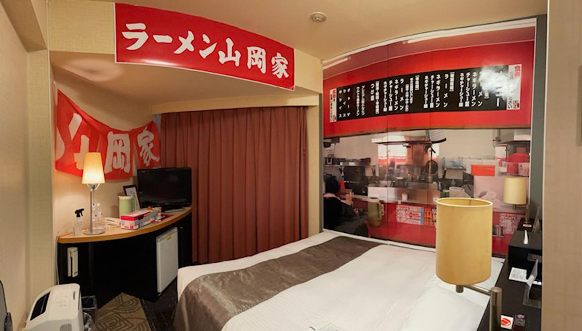 ホテルの部屋が「ラーメン山岡家」 意外すぎるコラボ第2弾登場
