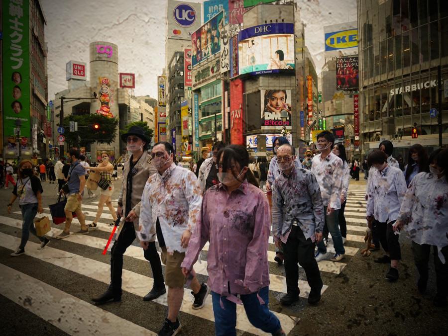 ゾンビになった後、渋谷の街を練り歩く自由時間も確保