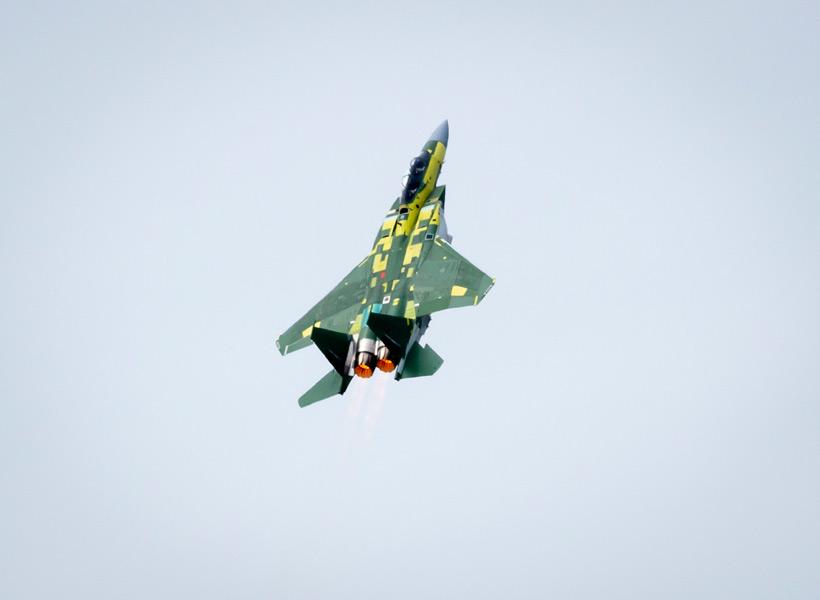カタール向けのF-15QAの初飛行(Image:Boeing)