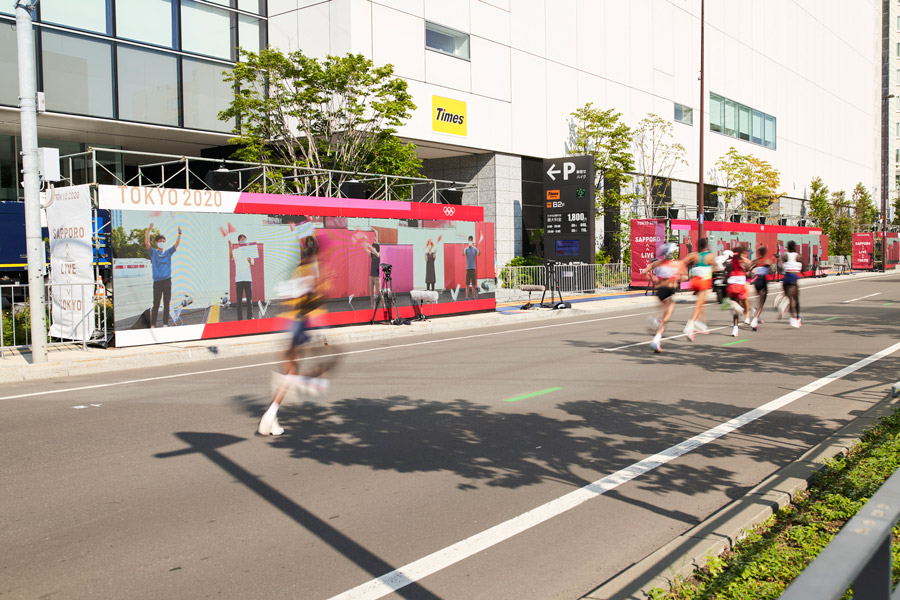 札幌のマラソン選手たち