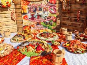 「フィールドキッチン」競技でのプレゼンテーション(Image:ロシア国防省)