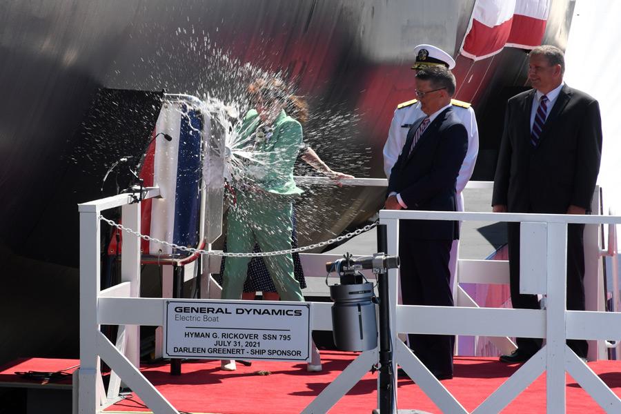 サラ・グリーナート・マクニコル氏によるセレモニー(Image:U.S.Navy)