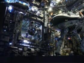 宇宙要塞ソロモンをイメージ。