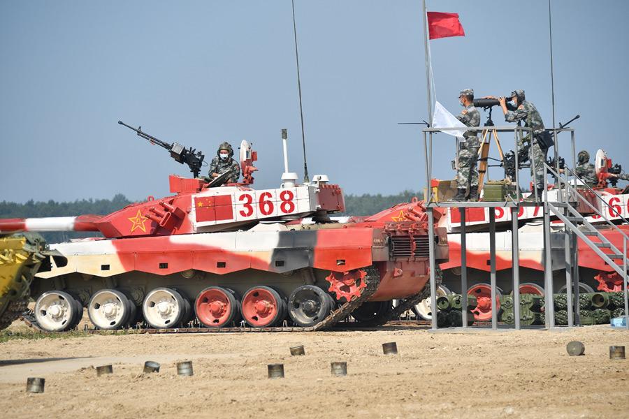 中国チームの96式戦車(Image:ロシア国防省)