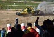 アラビノ訓練場で開催中の「戦車バイアスロン世界選手権2021」の様子(Image:ロシア国防省)