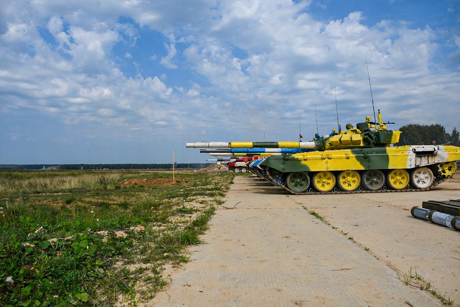 「戦車バイアスロン世界選手権2021」トレーニングの様子(Image:ロシア国防省)