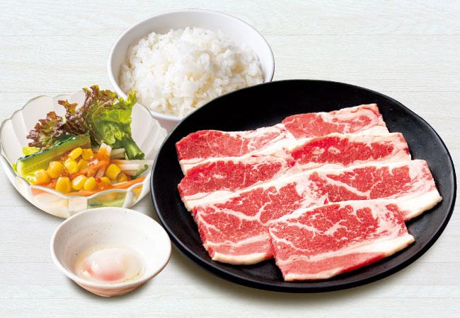 ファミリーカルビ朝定食