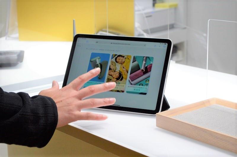最新デバイスのカスタマイズなどがタブレット端末上で体験