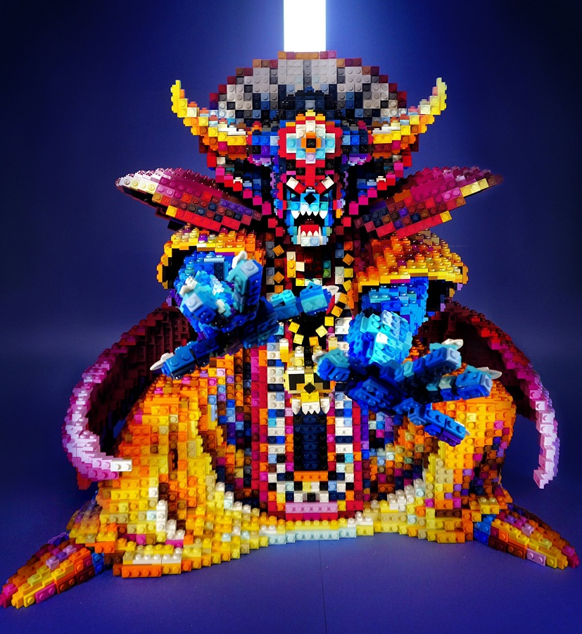 ドラクエ「ゾーマ」の大作レゴ 作者のこだわりがまさに「勇者の挑戦」
